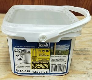 Fasco Ef40 315 1 9 16 Hot Dipped Galvanized Heavy Wire Fence Staples