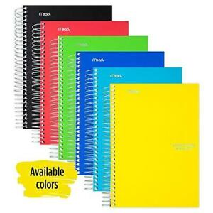 Five Star Spiral Notebook 5 Subject College Ruled Paper 180 Sheets Small