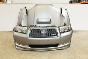 Jdm 06 08 Subaru Forester Front End Sg9 Turbo Nose Cut Clip Bumper Fenders Light