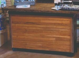 Custom Wood Slab Cabinet counter