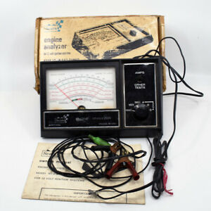 Sears Engine Analyzer For 12 Volt Ignition Systems Model 161 2161 Vintage 1970s