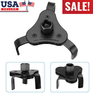 Oil Filter Wrench Auto Adjustable Universal 3 Jaw Remover Socket 1 2