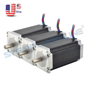 3pcs Nema 23 Stepper Motor 3nm 425oz in 4 2a 10mm Shaft Cnc Mill Lathe Router