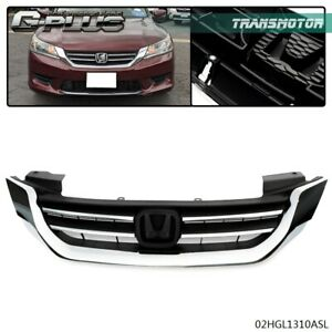 Chrome Front Bumper Grill Grille Assembly Factory Fit For Honda Accord 2013 2015