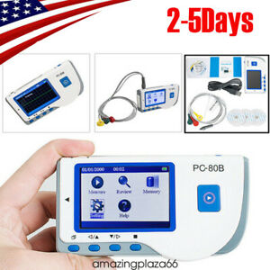 Pc 80b Handheld Ecg Ekg Detector Heart Rate Monitor Lead Wire Cable Ecg System
