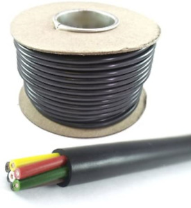 30m Roll Of 7 Core Trailer Caravan Led Lights Wire Cable Rated To 11 Amps