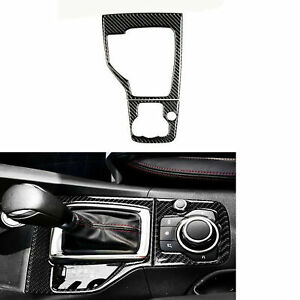 For Mazda 3 Axela 2013 2016 Carbon Fiber Inner Gear Shift Panel Frame Cover Trim