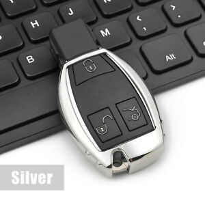 Silver Tpu Smart Key Case Cover Holder Shell For Mercedes Benz W176 W246 W204