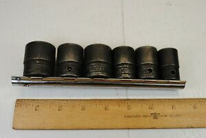 Snap On 1 2 Inch Drive Impact Sockets 6 Pieces