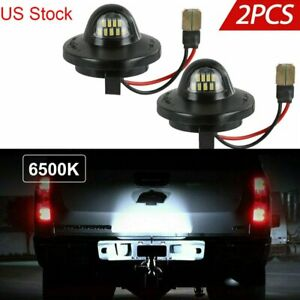 2x Led License Plate Light Lamp Assembly Replacement For Ford F150 F250 F350