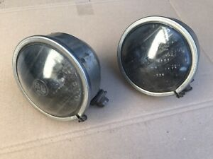 Vintage Pur Lux 200t Fog Lamp Driving Lights Louvered