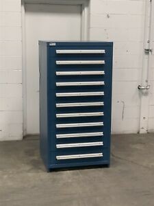 Used Stanley Vidmar 11 Drawer Cabinet Freight Damage Industrial Storage 2223