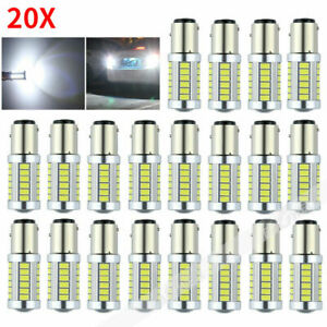 20 X 16000lm White Bay15d 1157 5630 33smd Led Car Turn Light Stop Lamp Bulb 12v