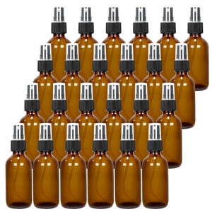 24pack Glass plastic Spray dropper Bottle W fine Mist For Perfume Oil Amber blue