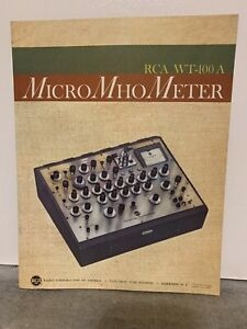 Orignal Rca Electron Tube Micro Mho Meter Tube Tester Instruction Manual