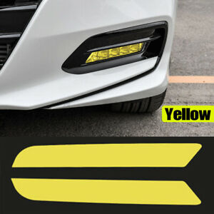 Front Fog Light Cover Overlay Tint Reflective Sticker For Honda Accord 2018 2020