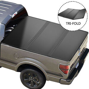 09 21 For Dodge Ram 1500 Crew Cab 6ft Bed Hard Lights Tri Fold Tonneau Cover