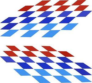 2 22x9 Iconic M Sport Flag Tri Color Decal Stickers For Bmw Side Doors Hood