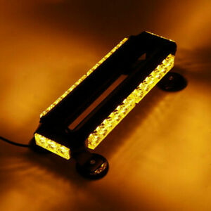 Amber 30 Led Roof Top Strobe Light Bar Beacon Light Magnetic Base Yellow 30w 12v