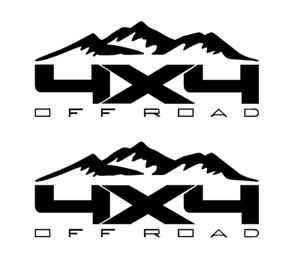 Ford F 150 4x4 Offroad Mountain pair 1500 2500 Multi color Vinyl Decal Sticker