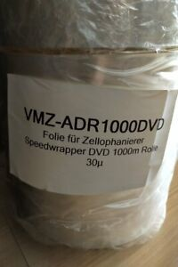 30 Micron Bopp Shrink Film Dvd 1000m For Xopax Novak Delta And Jmv