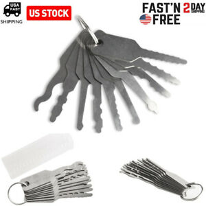 10pcs Stainless Jiggler Keys Dual Sided Auto Car Unlock Lock Opening Repair Kits