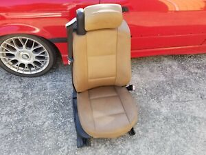 Bmw E46 325ci 330ci Convertible Natural Brown Front Right Leather Seat Powered