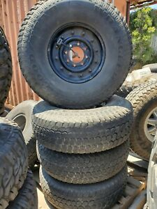 Hummer H1 Hmmwv Rims And Tires Package 2 Piece Rims Good Year Gsa Tires 8 X 6 5