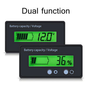 12v Lcd Battery Capacity Voltage Tester Meter Monitor Voltmeter Indicator Usa
