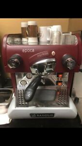 Rancilio Epoca S1 Espresso Machine Red With Grinder