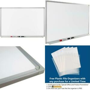V Vab pro 24x36 Inch Magnetic Dry erase White Board With Extended Pen Tray Inst