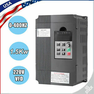 Single phase To 3 phase 1 5kw 220v Variable Frequency Drive Vfd Speed Controller