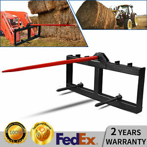 Skid Steer 49 Hay Bale Spear Spike Round Bale Spear Mover Quick Attach 3000lb
