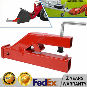 2 Trailer Hitch Bucket Clamp Ball Mount Receiver Fit Bobcat Tractor Skidsteer