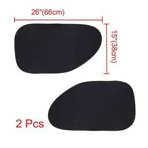 2pcs Static Electric Car Cling Sun Shade Side Window Sunshade For Blocks Uv Rays