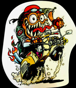 Hot Rod Sticker Scooter Time S T P 3 1 4 X 3 3 4 Amazing Cool Glossy