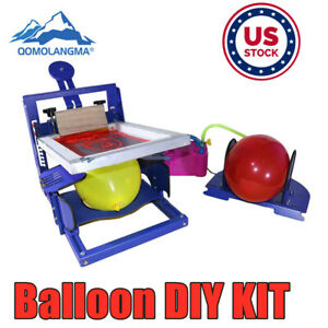 Us Manual 1 Color Balloon Screen Printing Machine Kit Diy Balloon Screen Printer