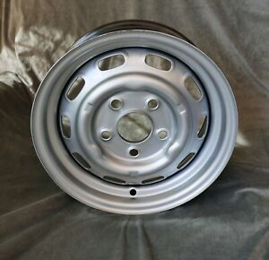 Maxilite Steel Wheel For Porsche 356 911 1969 912 Silver 5 5x15 W Tv