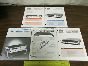 5 Assorted Eip Dana Electronics Test Equipment Brochures