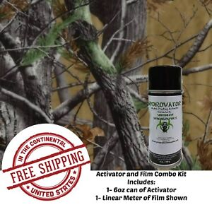 Hydrographic Water Transfer Hydro Dip 6oz Activator 1m Tree Camo 11 Film Kit