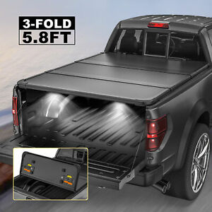 Tri Fold 5 8ft Bed Hard Tonneau Cover For 2007 2013 Silverado Sierra 1500 Truck