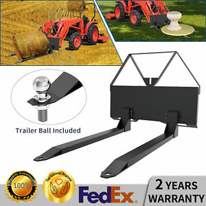 Skid Steer 50 Pallet Forks Quick Tach Trailer Hitch Attachment Loader Forks