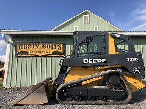 2013 John Deere 323d Track Skid Steer Loader Enclosed 2 Speed Low Cost Shipping