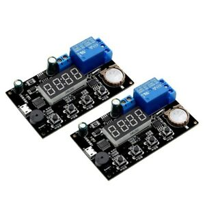 10x 2pc Vhm 018 Dc 5v Real Time Timing Delay Timer Relay Module Switch Cont V6a5