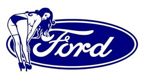 Ford Sexy Pinup Pin Up Girl Model Retro Vintage Die Cut Vinyl Car Decal Sticker