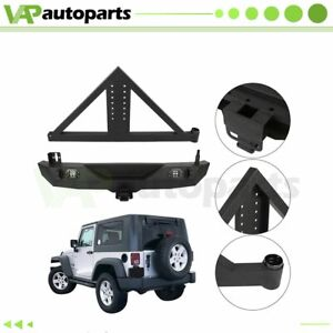 For 07 18 Jeep Wrangler Jk Rear Bumper W Tire Carrier D ring Winch Triangular