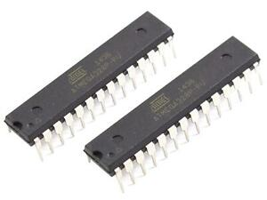 2 X Atmega328p pu Replacement Chip For Arduino Uno R3 Bootloader And Blink