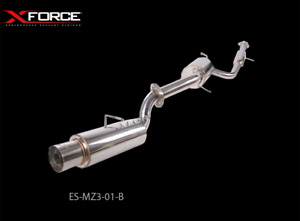 Xforce 2 5 Cat back System With Angle cut Tip For Mazda 3 Sp23 Sedan 2004 09
