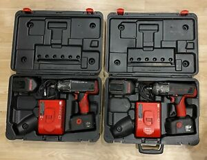 Obo Ct6850 3x Snap On 18v 1 2 Impact Wrench 4x Batteries 2x Charger 2x Case