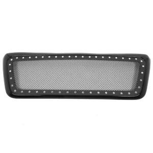 New Abs Stainless Steel Mesh Upper Front Grille Fit For Ford F 150 2004 2008